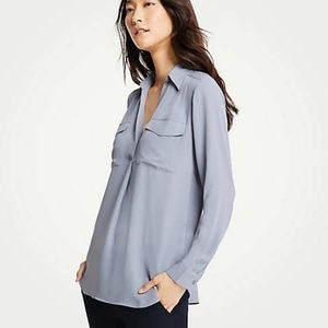 Ann Taylor | Camp Button Down Shirt